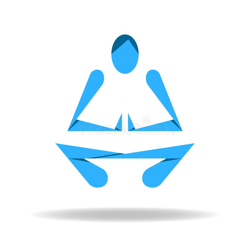 Abstract body in Yoga lotus pose royalty free illustration