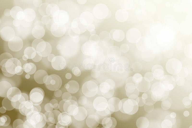 Abstract Bokeh. Image on warm light yellow space stock image