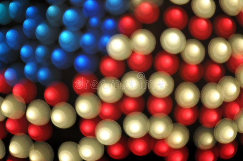 Abstract Bokeh American Flag Background. On black royalty free stock photos