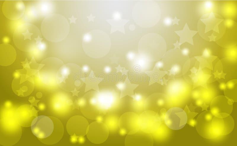 Abstract bokeh background. Festive defocused lights.Vector illustration Festive gold background for card, flyer, invitation, pla vector illustration