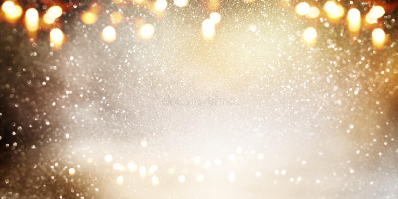 Gold And Silver Glittering Background Stock Image Image Of
