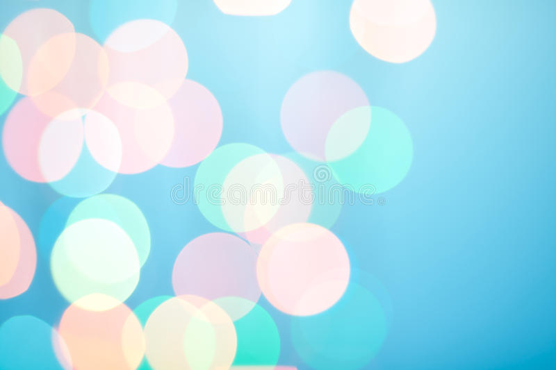 Abstract bokeh on blue