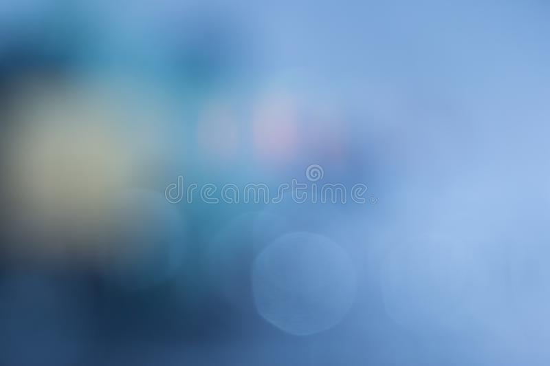Abstract bokeh effect blur light blue background stock photos