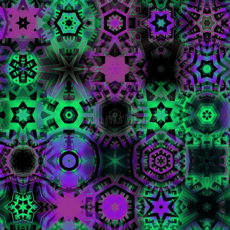 abstract bokeh fractal colorful texture stock image