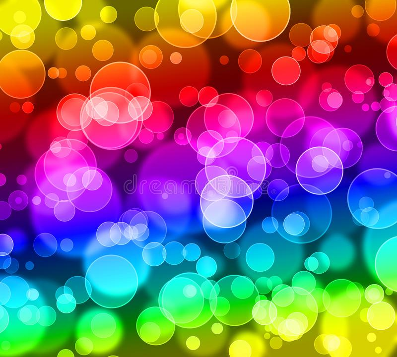 Abstract bokeh glitter ,rainbow colorful background royalty free illustration