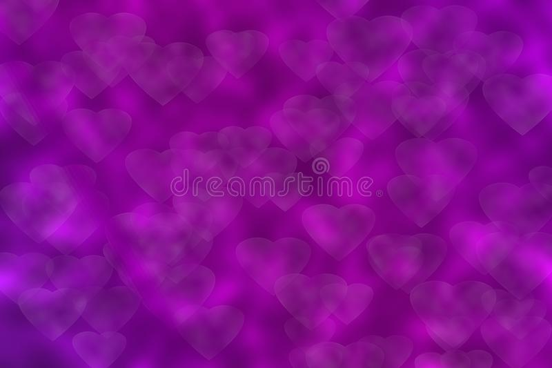 Abstract bokeh hearts background . royalty free illustration
