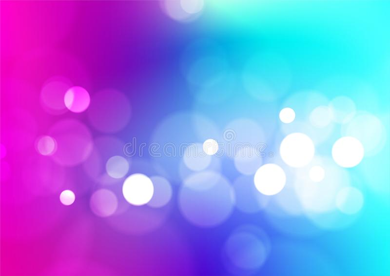 Abstract bokeh lights colorful background royalty free illustration