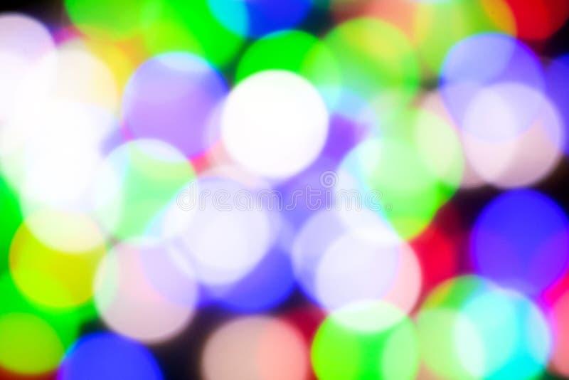 Abstract bokehbeeld met trillende kleuren stock afbeelding