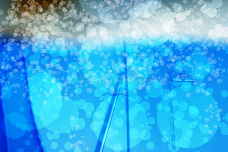 Abstract bokehblauw royalty-vrije stock afbeeldingen