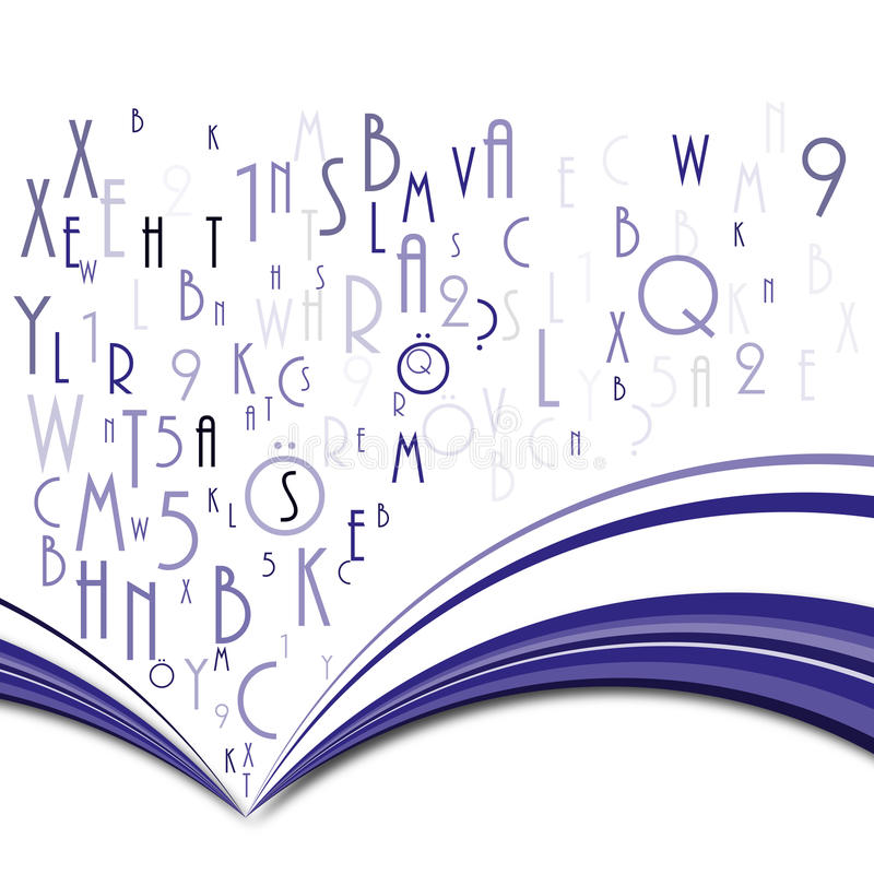 Download Abstract book stock vector. Image of open, page, literature - 24499855