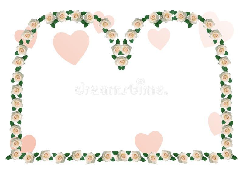 Abstract border, flowers stock illustration