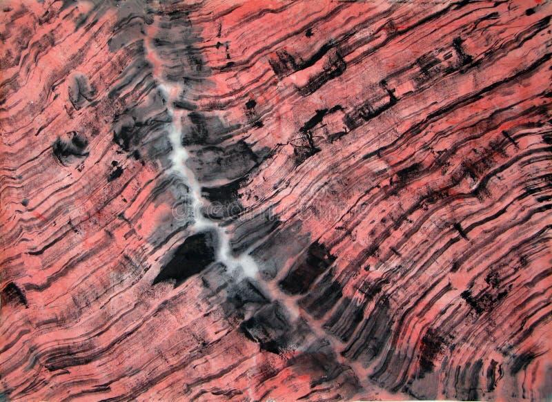 Abstract borstel het schilderen art. stock illustratie