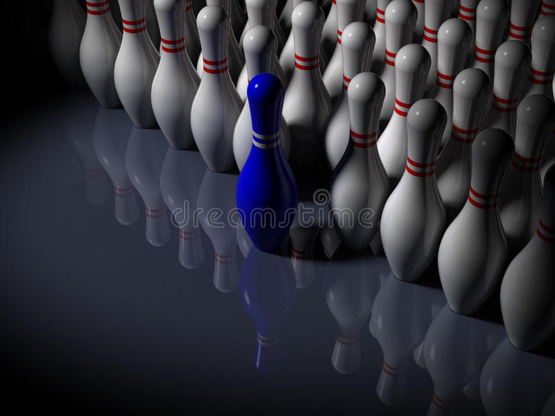 Abstract - Bowling Pins - The Frontrunner royalty free illustration