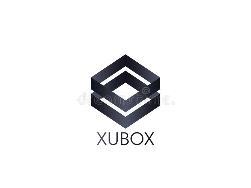 Abstract box cube logo icon template. blockchain and technology. Thing concept symbol illustration royalty free illustration