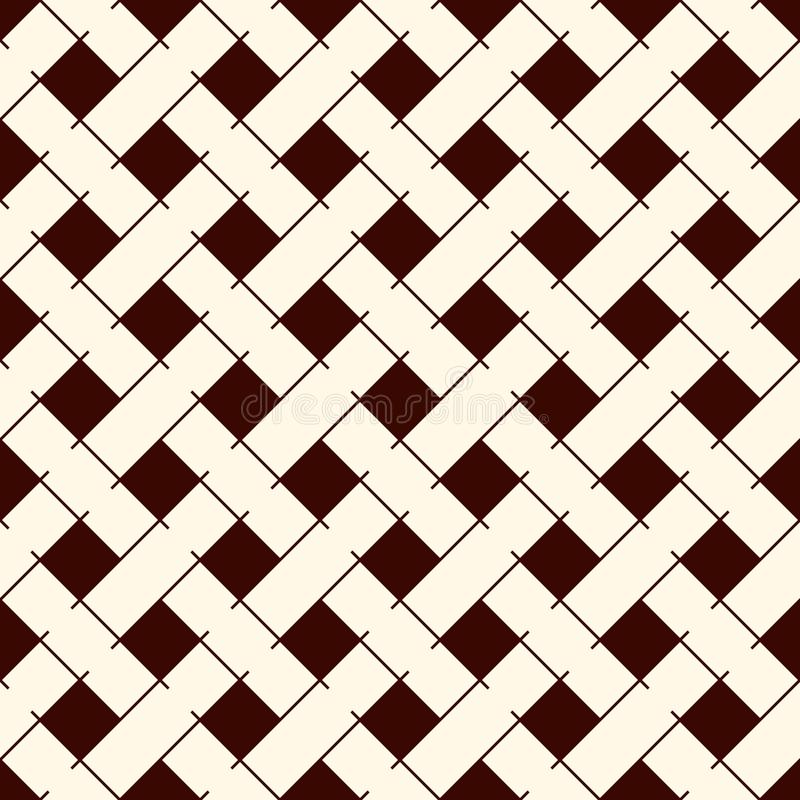 Free Abstract Braiding Background. Seamless Surface Pattern With Repeated Diagonal Weave Rectangular Tiles. Wicker Wallpaper Royalty Free Stock Image - 115651916