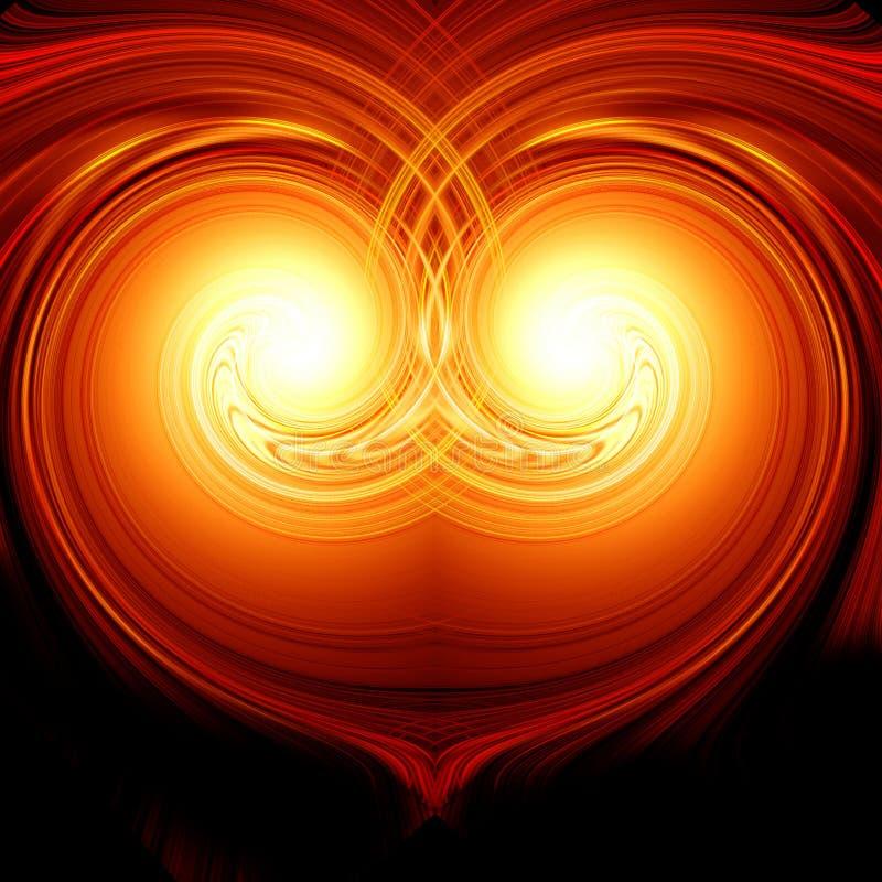 Abstract brandend hart vector illustratie