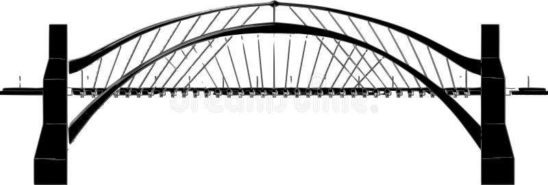 abstract bridge illustration stock illustration