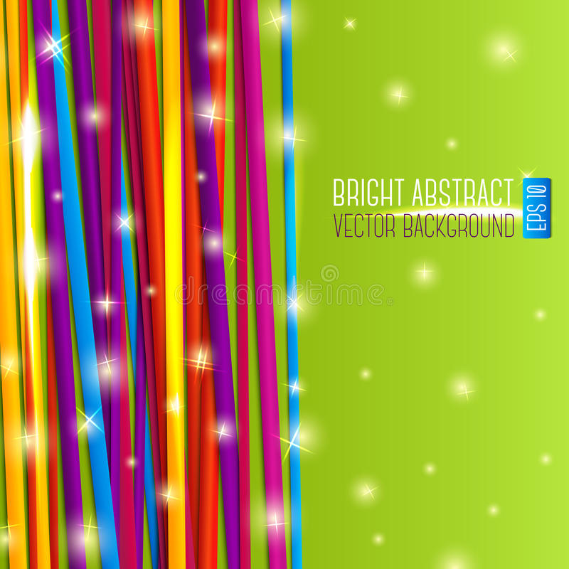 Abstract bright background with colorful laces and royalty free illustration