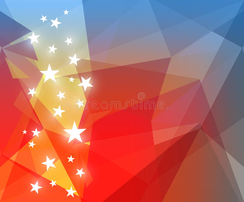Abstract bright background in red and blue colors stock illustration