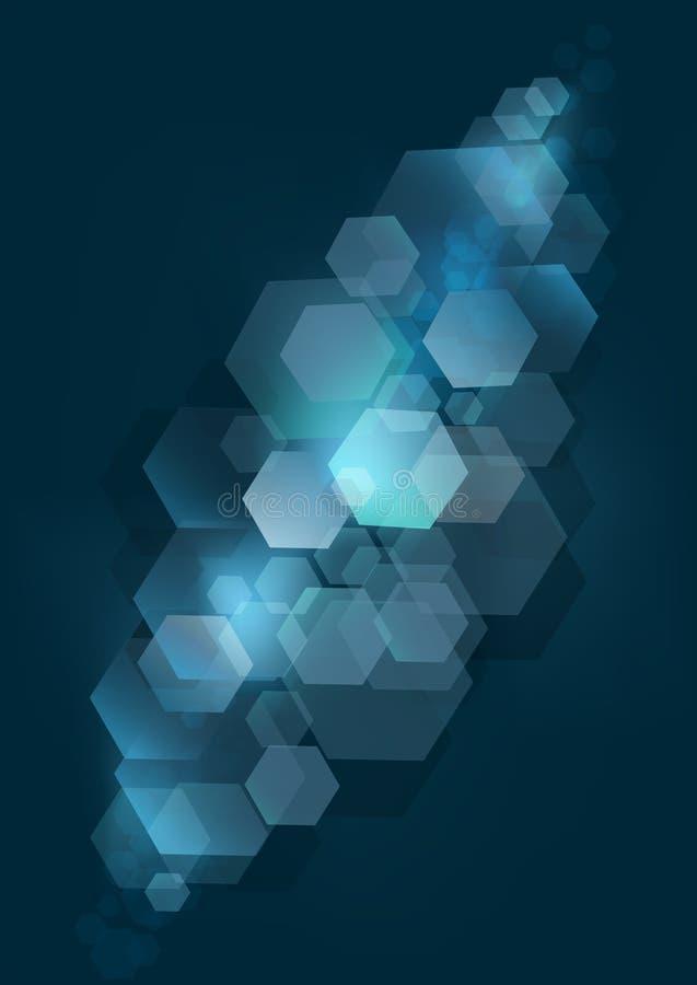 Dark blue bokeh background with silver rhombuses