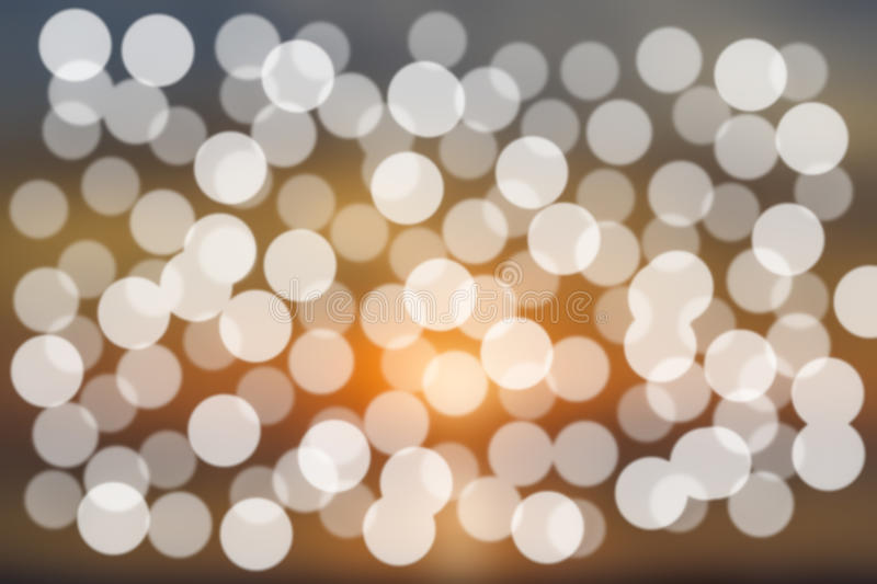 Abstract bright blur gold and white background bokeh. royalty free stock photography