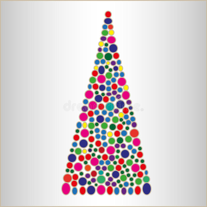 Abstract bright Christmas tree royalty free stock image