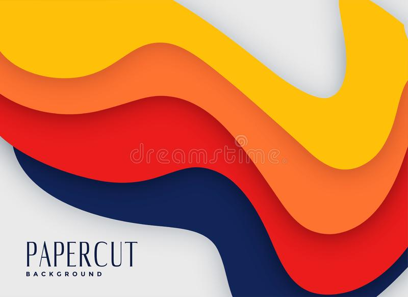 Abstract bright color papercut background royalty free illustration