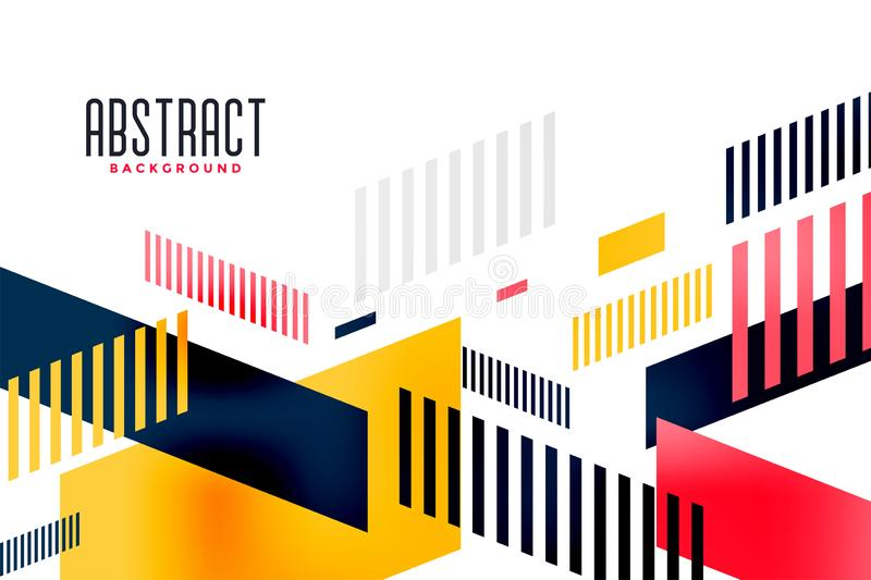 Abstract bright colorful modern trendy banner composition royalty free illustration