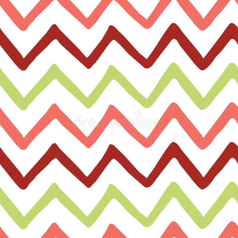 Abstract Bright Colorful Zigzag Seamless Hand Painted Pattern. Stock ...