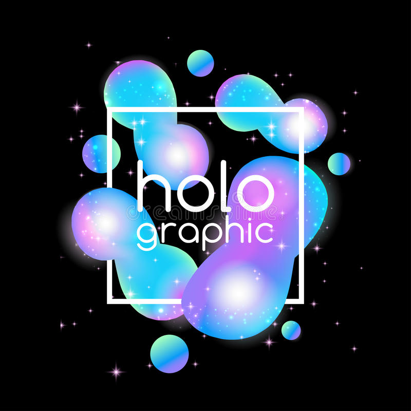 Abstract Bright Holographic Background Stock Illustration ...