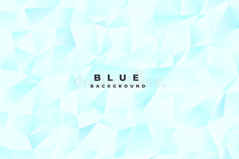 Abstract bright light blue low poly background royalty free illustration