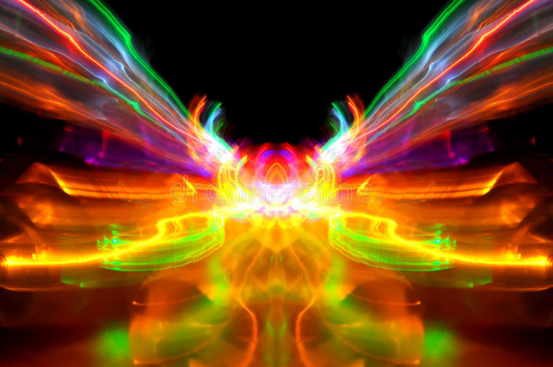 Download Abstract Of Bright Light Streaks Stock Photo - Image: 17644756