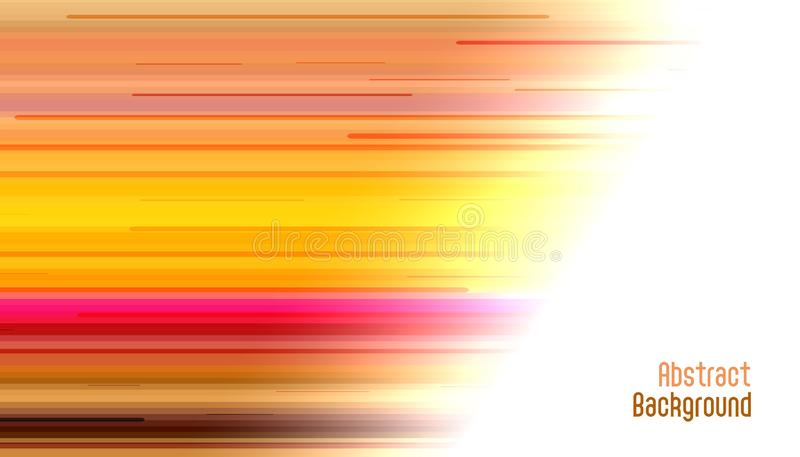Abstract bright motion straight lines background stock illustration