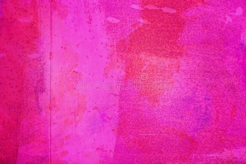 The abstract bright pink surface has a brush painted on the background for graphic design. The abstract bright pink color surface has a brush painted on the royalty free stock photography