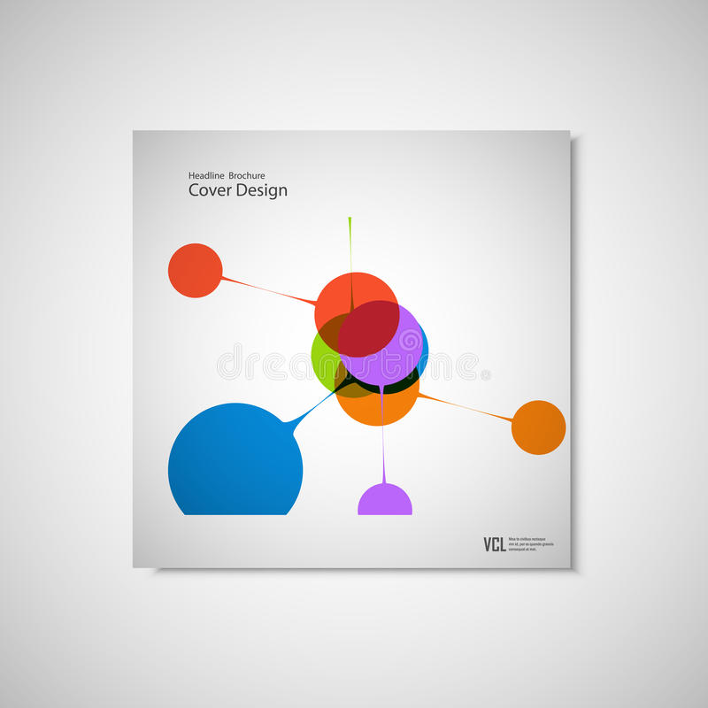 Abstract Bright Simple Technology Brochure Template Connection - Simple brochure template