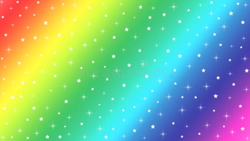 Abstract Bright Stars and Sparkles Texture in Rainbow Colors Background stock image