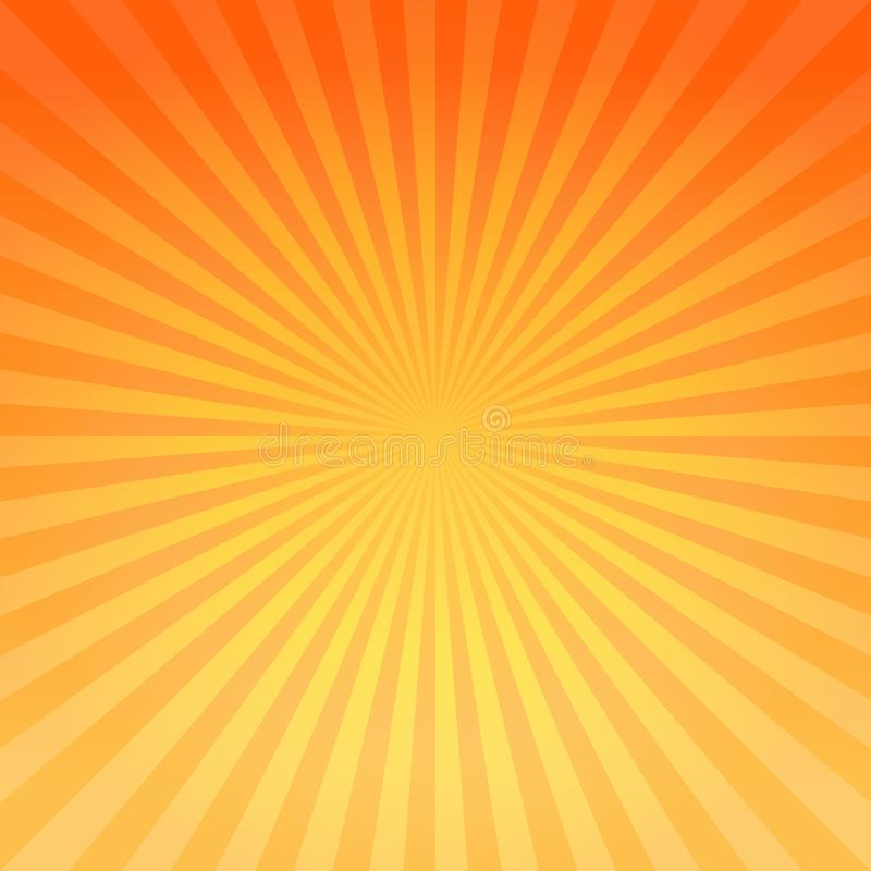 Abstract bright Yellow Orange gradient rays background. Vector EPS 10 cmyk vector illustration
