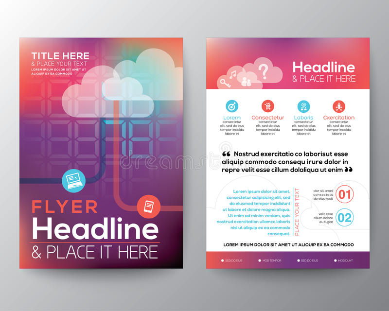 Abstract Brochure Flyer design Layout vector template stock illustration