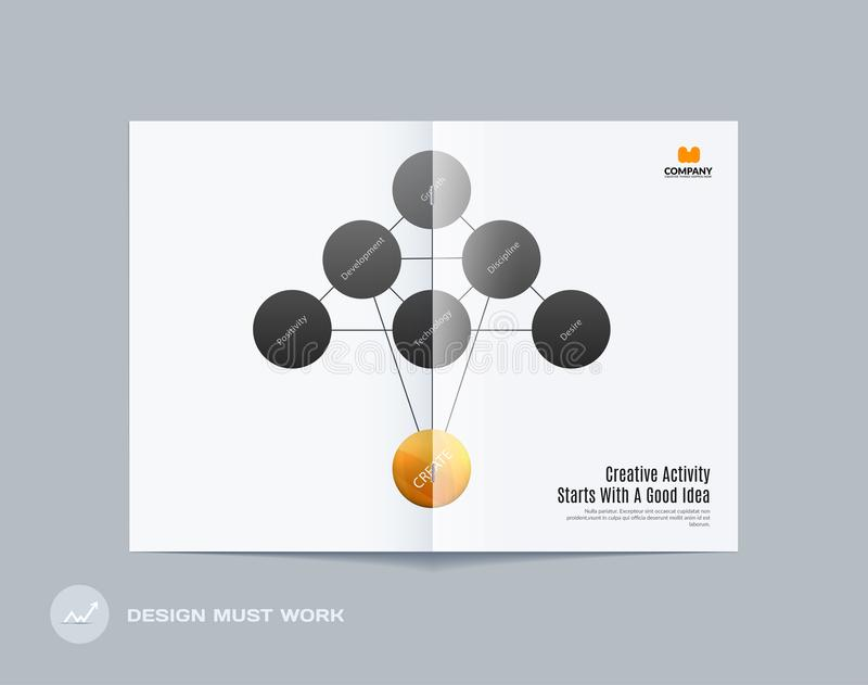 Download Abstract Double-page Brochure Design Round Style With Colourful Circles For Branding. Business Vector Partnership Stock Vector - Illustration of abstract, business: 117925946