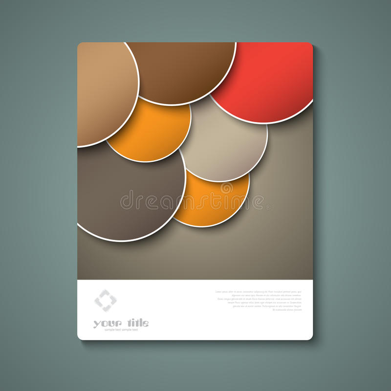 Abstract brochure template royalty free illustration