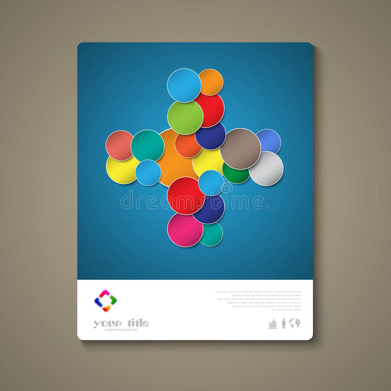 Abstract brochure template with circles stock illustration