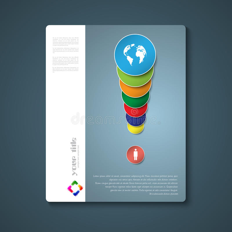 Abstract brochure template vector illustration