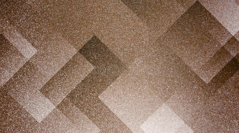 Abstract brown background shaded striped pattern and blocks in diagonal lines with vintage brown texture. royalty free stock photos