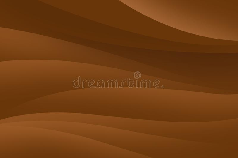 Abstract brown background with smooth lines, futuristic design. vector illustration