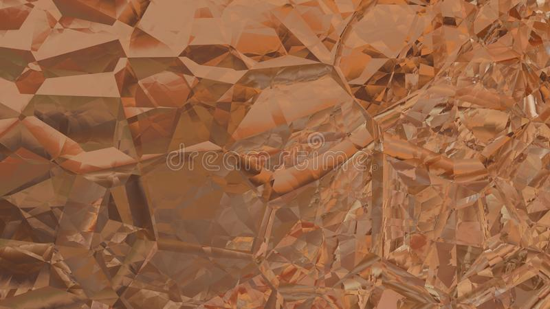Abstract Brown Crystal Background Image Beautiful elegant Illustration graphic art design Background. Image royalty free illustration
