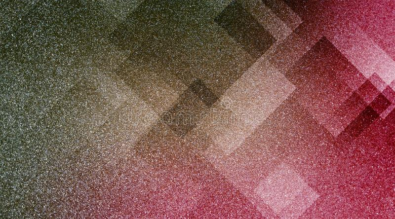 Abstract brown and pink background shaded striped pattern and blocks in diagonal lines with vintage blue brown and pink texture. royalty free stock photography