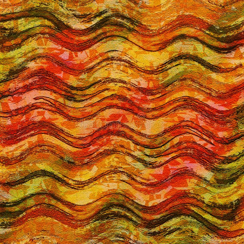 Abstract brown and red modern art background stock photography