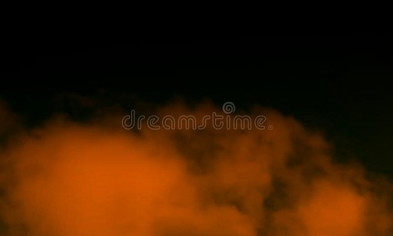 Abstract brown smoke mist fog on a black background. royalty free stock photo