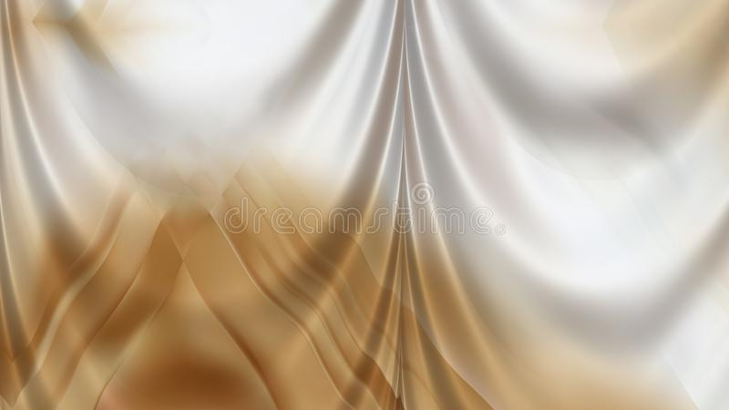 Abstract Brown and White Silk Drapery Textile Background Beautiful elegant Illustration graphic art design Background stock illustration