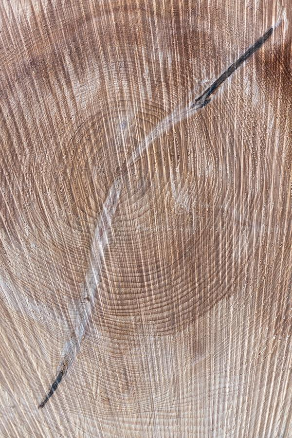 Abstract brown wood texture in portrait format. Detail of an abstract brown wood texture in portrait format stock photo